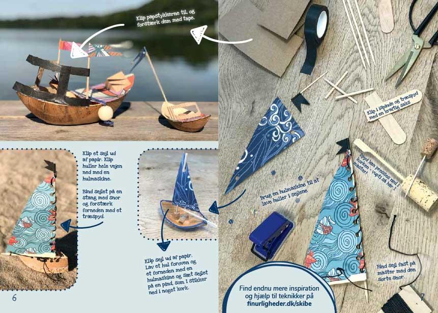 Vi vil gerne inspirere børnene til at eksperimentere med materialerne.